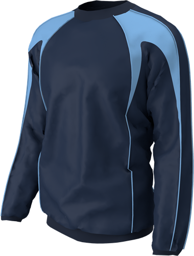 RugBee TRAINING TOP NAVY/SKY YOUTH XL