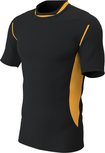 RugBee PRO TRAINING TEE BLACK/AMBER YOUTH XL