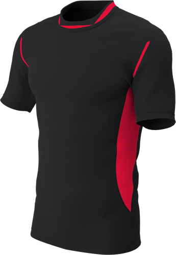 RugBee PRO TRAINING TEE BLACK/RED YOUTH XL