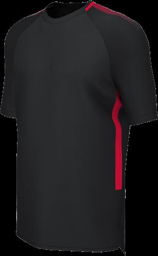 RugBee EDGE PRO TRAINING TEE BLACK/RED 2XL