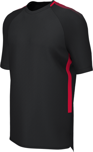 RugBee EDGE PRO TRAINING TEE BLACK/RED YOUTH Large