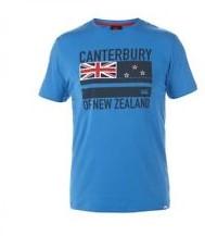 CANTERBURY FLAG TEE - S - BLUE ASTER