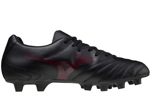 Monarcida II Select Gras Rugbyschoen (FG) Zwart Rood