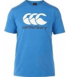 Canterbury T-shirt logo blue aster/white/carbon