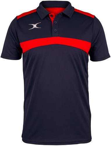 Gilbert POLO PHOTON DONKER NAVY/ROOD S