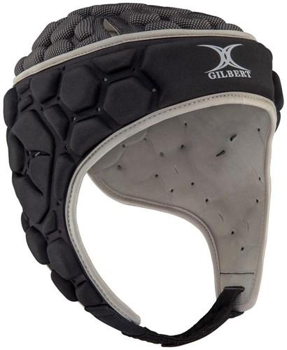 Gilbert scrumcap Falcon 200 Blk/Sil maat MB =  53 cm