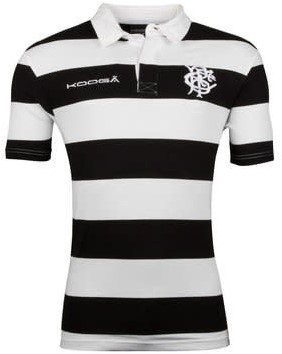 Kooga BaBaas Classic S/S Rugby Shirt  Zwart/Wit - M