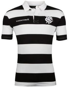 Kooga BaBaas Classic S/S Rugby Shirt  Zwart/Wit - XL