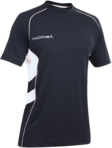 Kooga Rugby Elite Tech T-Shirt div.kleuren  Zwart - MDB/maat 116