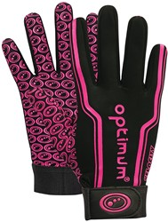 Optimum rugbyhandschoenen Zwart / Roze L