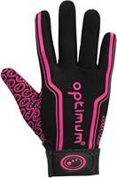 Optimum rugbyhandschoenen Zwart / Roze L-2