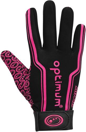 Optimum rugbyhandschoenen Zwart / Roze