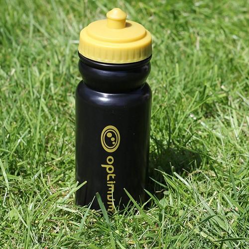 Optimum drinkfles zwart / goud- 500 ml