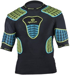 Optimum shoulderpads Atomik blauw / geel
