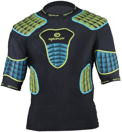 Optimum shoulderpads Atomik blauw / geel - maat M