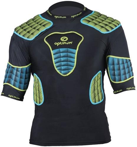 Optimum shoulderpads Atomik blauw / geel - maat S