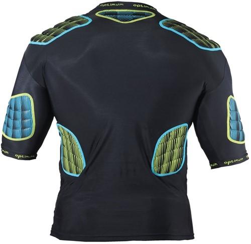 Optimum shoulderpads Atomik blauw / geel - maat M-2