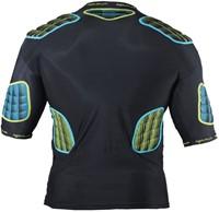 Optimum shoulderpads Atomik blauw / geel - maat S-2