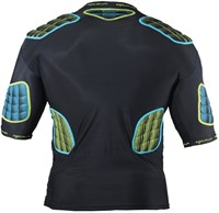 Optimum shoulderpads Atomik blauw / geel - maat XL-2