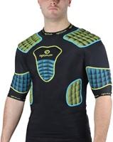 Optimum shoulderpads Atomik blauw / geel - maat M-3