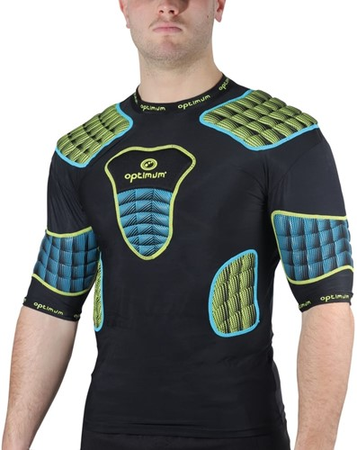 Optimum shoulderpads Atomik blauw / geel - maat XL-3