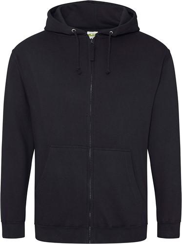 Hoodie  Zwart met rits en capuchon maat 4 XL