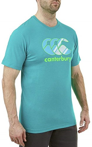 CANTERBURY CCC GRAPHIC LOGO T-SHIRT - L - TROPICAL GREEN