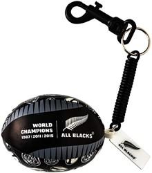 Rugby Distribution All Blacks Sleutelhanger Bungee bal  Zwart - ome