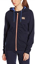 CANTERBURY CCC PRINCESS SEAMZIP THROUGH HOODY - 6 -2XS  NAVY