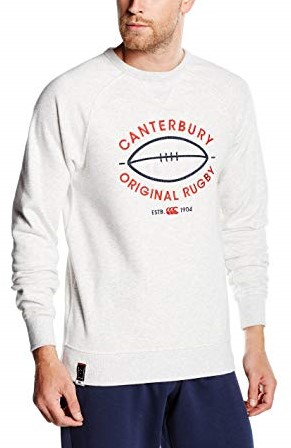 CANTERBURY CCC LOGO CREW SWEAT - XS - CLOUD MARL