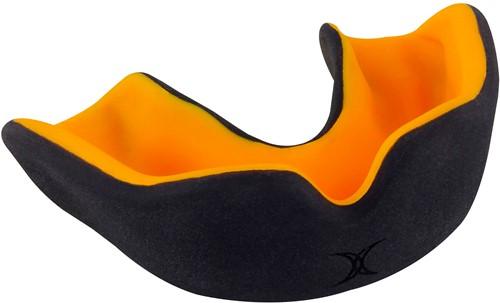 MondGuard X Brace Dubbele Dichtheid Zwart / Oranje Senior