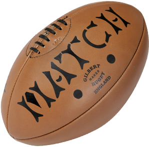 Gilbert rugbybal leer Heritage Mini (15cm)