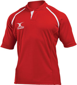 Gilbert SHIRT XACT II RED 12-13