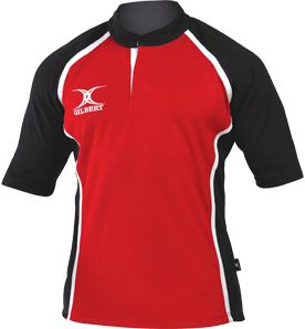 Gilbert SHIRT XACT II RED/BLACK 5-6