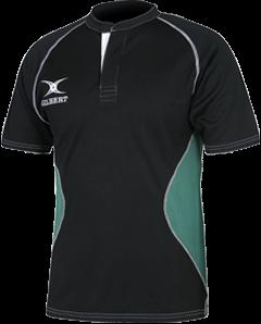Gilbert SHIRT XACT V2 BLACK/GREEN 2XS
