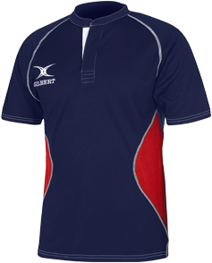 Gilbert SHIRT XACT V2 NAVY/RED 11-12