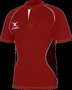 Gilbert SHIRT XACT V2 RED/BLACK 11-12