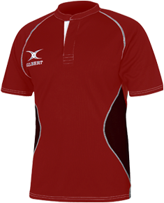 Gilbert SHIRT XACT V2 RED/BLACK XS