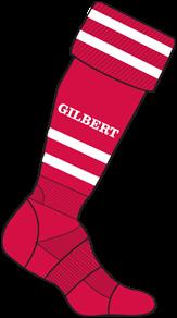 Gilbert SOCK TRAINING II RED MINI 12-2