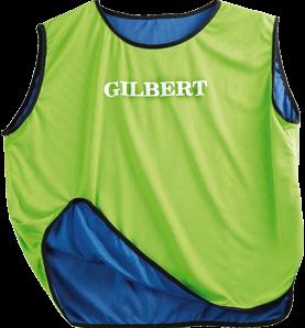 Gilbert Bib Reversible Blu/Grn Junior