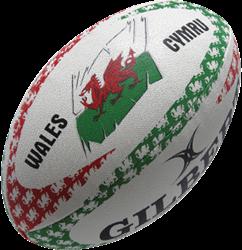 Gilbert rugbybal Anthem Wales Lomf - maat 5