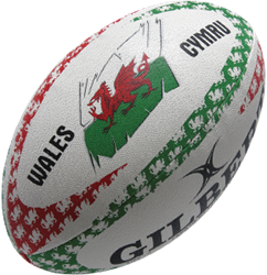 Gilbert rugbybal Anthem Wales Lomf - Mini