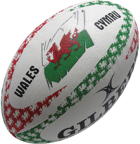 Gilbert rugbybal Anthem Wales Lomf - Mini