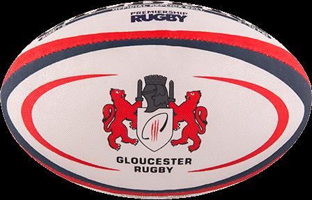 Gilbert rugbybal Replica Gloucester maat 4