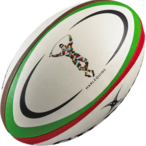 Gilbert rugbybal REPLICA HARLEQUINS - maat 4