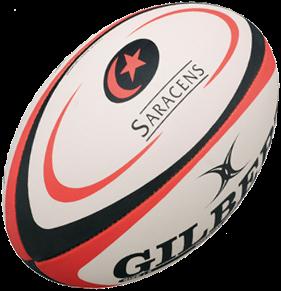 Gilbert rugbybal REPLICA SARACENS - Midi 24cm