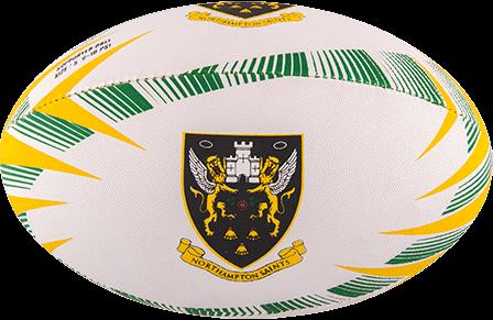 Rugbybal Supporter Northampton maat 5