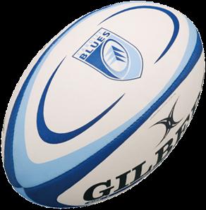 Gilbert rugbybal REPLICA CARDIFF - Mini 15cm