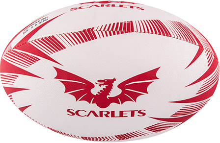 Gilbert Ball Supporter Scarlets Sz 4