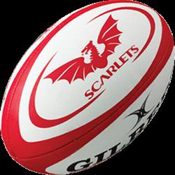 Gilbert rugbybal Replica Scarlets maat 4